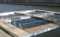 Строительство нового садка в гидроузле