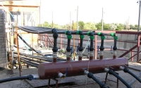 Система водоподачи и фильтрации воды в бассейн с мальками